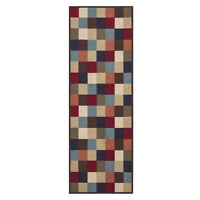 Custom Size Stair Hallway Runner Rug Rubber Back Non Skid Multicolor Tiles 22 31