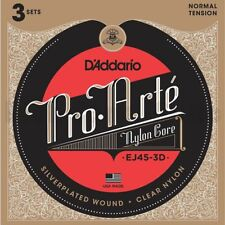 D'Addario EJ45-3D Pro-Arte Nylon Classical Guitar Strings, 3 PACK, Normal