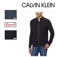 SALE! Calvin Klein Men's Basket Rib Sweater Full Zip Jacket SIZE & COLOR C45