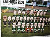 BSG Chemie Leipzig Jahreskalender 2021 ca. 30x40 cm Fußball Regional Neu,Lizenz