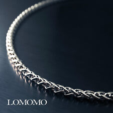 4mm 60CM 316L Stainless Steel Men's Wheat Braided Necklace Chain Link C5915