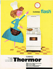 PUBLICITE ADVERTISING 044  1962  THERMOR   gazinière Flash