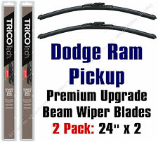 Wipers 2-Pack Premium Blades fit 2019 Ram Pickup Truck (1500 ONLY) 19240x2