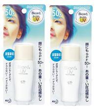 2X Sunscreen 30ml Biore UV Perfect Face Milk Sun Block SPF 50 ++ Health & Beauty