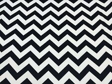 CHEVRON BLACK WHITE POLYESTER LYCRA SPANDEX JERSEY KNIT ATHLETIC UNIFORM FABRIC
