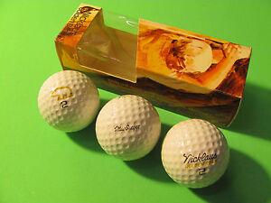 Vintage MacGregor Jack Nicklaus Golden Bear 2, One Sleeve of 3 Balls.
