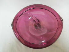 Thames MATTHEW BUECHNER Purple Amethyst Studio Art Glass Vase Bowl 1995