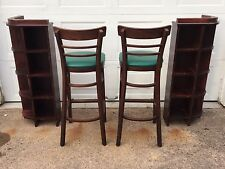 """Heavy Architectural 43"""" Tall Bar Pub Corner Shelves, Very Cool, Exc Cond!"""