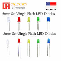 3 5 mm Water Clear Diffused Self Flash Flashing White Red Blue Light LED Diodes