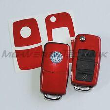 1V_decoración de llave Adhesivo VW Polo Golf Touran Bora Passat rojo metálico