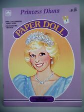Princess Diana Paper Doll Book by Whitman 1985 - Uncut & Minty Royal Condition!