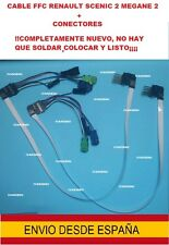 cable plano FFC + CONECTORES contactor volante AirBag Renault Megane 2 Scenic 2