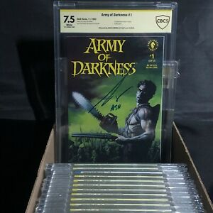 Army of Darkness #1 signed by Bruce Campbell CBCS 7.5