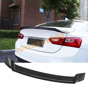 For Chevrolet Malibu 2016-2021 ABS Gloss black Rear Tail Trunk Spoiler Wing Lip