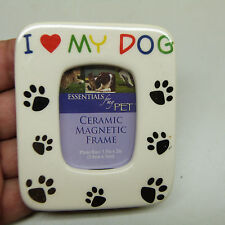 """$5 Blow Out Sale: CERAMIC MAGNET """"I LOVE MY DOG"""" 1.5 x 2 in (BRAND NEW)"""