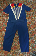 VTG 80s 90s Blue Red Yellow Track Suit Short Sleeve Shirt Pants Set Lot S M Roma