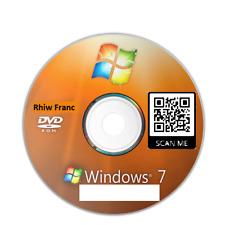 Windows 7 Pro 64 bit Repair Reinstall Disc plus instructions