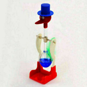 Novelty Happy Duck Drinking Lucky Bobbing Toy Water Bird Dippy Glass Retro N8I6