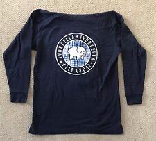 f62a49fa7f473 Navy Blue Ivory Ella Long Sleeve Shirt w  Hood Tie-dye Logo