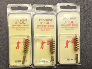 Pro-Shot Benchrest Quality Pstl. Bore Brush 41 Cal 3-PACK  41P New