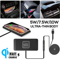 Qi Wireless Car Phone Charger Fast Charging Pad Non-Slip Mount For Smartphone
