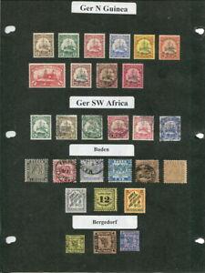 German Colonies / German States On Album Pages