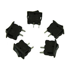 5PCS AC 250V 3A 2 Pin ON/OFF I/O SPST Snap in Mini Boat Rocker Switch Free P&P