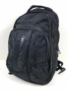 "Swiss Gear Backpack Black 18.5"" Laptop Bag Good Condition Model 64081001"