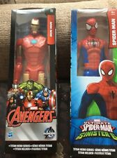 "2 Avengers And Spiderman 10"" Figures Spiderman And Ironman"