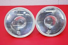 "H4 Headlights PAIR 7"" Round 180mm Sealed Beam Conversion Kit E-Code CITY LIGHTS"