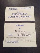 Ticket : Chelsea Reserves V Arsenal Reserves 10/04/2000