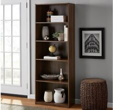"New ListingMainstays 71"" 5 Shelf Bookcase, Canyon Walnut New"