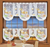 Kitchen Curtain Cafe Net Curtain Lace Bread Drop Sold by the metre Window Decor
