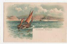 Guernsey Harbour Early EWH Chromo Art Postcard, B270
