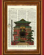 Spirited Away Bathhouse Dictionary Art Print Poster Picture Anime Ghibli