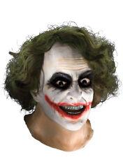 Accesorio Disfraz Caballero Oscuro, Para Hombre Batman Joker Completa Máscara Con Cabello