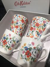 Cath Kidston 4 Floral Mugs  Bnib