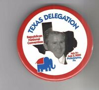 2000 TEXAS DELEGATION pin George W. BUSH pinback REPUBLICAN National CONVENTION