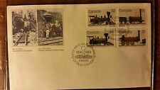 CANADA FDC 1983 CANADIAN LOCOMOTIVES BEAUTIFUL COLOR FREE US SHIPPING