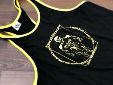 GASP WOW Body build vest muscle, stringer black and yellow muscle vest gym
