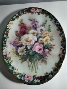 Lena Liu's Floral Cameos (Remembrance) Plate No 18561j