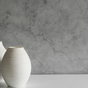 Marble Effect Wallpaper | Dark Grey & Light Grey