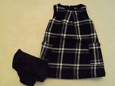 Baby Girl Black Sleeveless Checked Party Dress Size 2 years from BabyGap