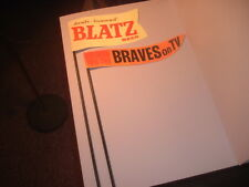 Repro. 1950's Blatz Beer Flags Metal Baseball Milwaukee Braves TV Bar Display