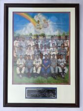 Negro League Signed Tribute To Leon Day Framed Poster 21 Signatures LE/1200