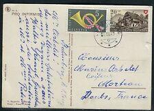 Suisse - Oblitération de Balmberg sur CP pour la France en 1949  réf F91