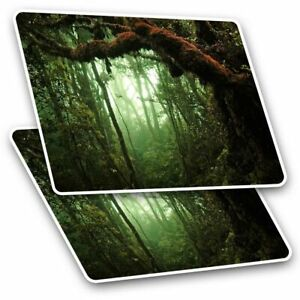 2 x Rectangle Stickers 10 cm - Tropical Rain Forest Trees #2230