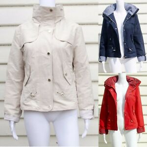 Marks and Spencer Ladies Shortie Anorak Jacket with Stormwear White, Navy, Red