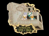 Disney Pin Disneyland California Adventure Donald Daisy riding Tower of Terror