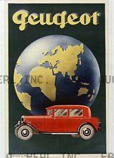 Peugeot 1920s automobile racing print advertisement ca 8 x 10 print prent poster